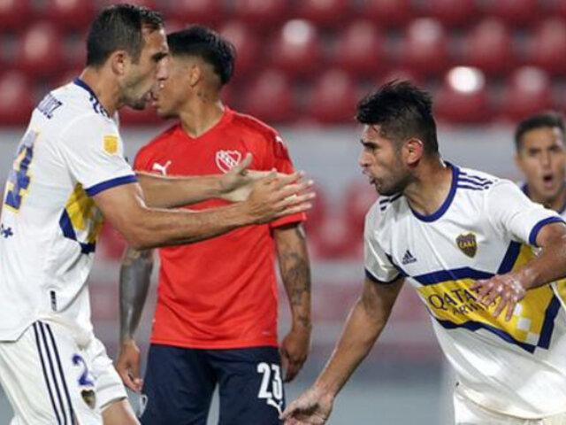 Carlos Zambrano marcó por primera vez con Boca Juniors y le dio el 1-1 ante Independiente