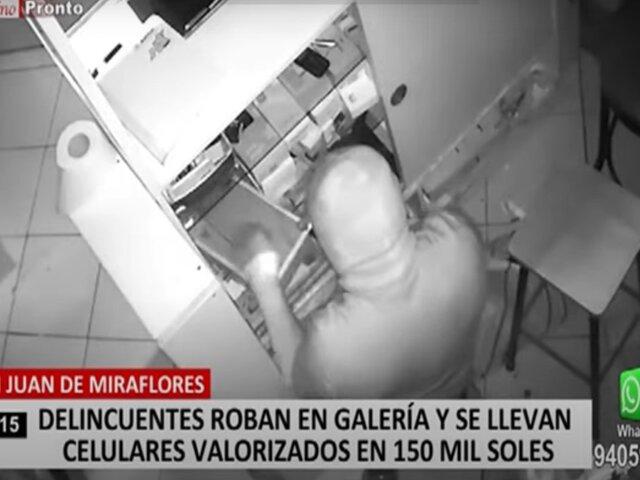 SJM: ladrón se lleva cerca de S/150 mil en celulares y dinero tras robar en tiendas de galería