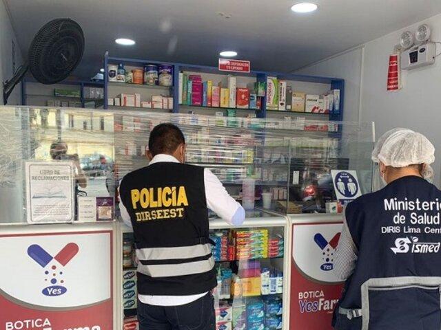 Clausuran 3 farmacias en inmediaciones del Hospital Loayza por atentar contra la salud