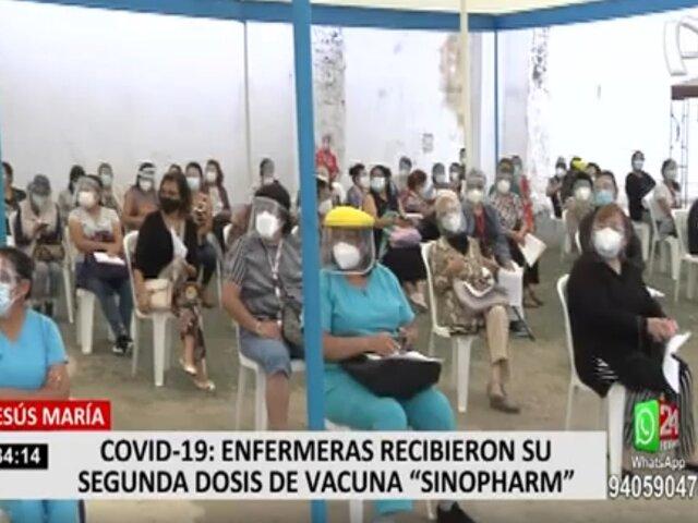 COVID-19: reprogramarán vacunación de enfermeras que no pudieron recibir la segunda dosis