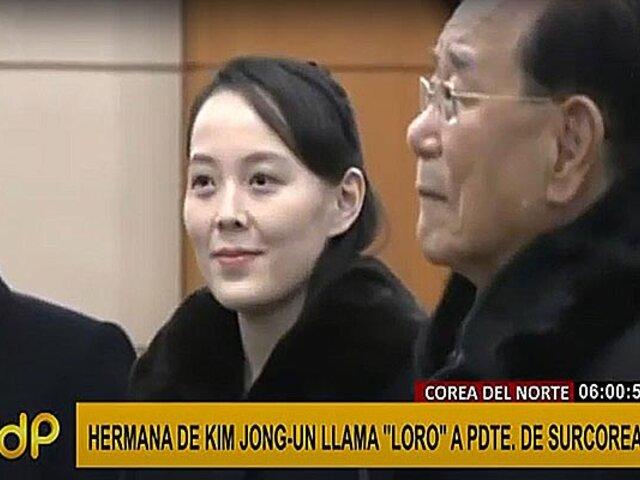 """Corea del Norte: Hermana del presidente llama """"loro"""" a presidente de Surcorea"""