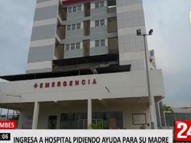 Tumbes: mujer se metió a hospital COVID-19 para pedir que atiendan a su madre