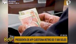 """Presidenta de AFP sobre nuevo retiro: """"tendremos 4 millones de afiliados con saldo cero"""""""