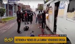 SJL: Policía desarticula a banda de microcomercializadores de droga