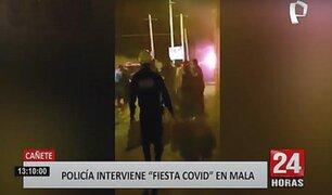 Cañete: fiesta COVID termina en pelea entre jóvenes y la Policía