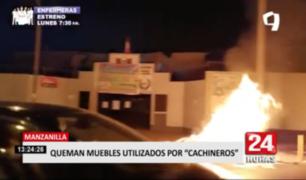 Vecinos de Manzanilla vuelven a quemar desechos de cachineros