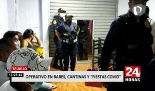 Trujillo: operativo interviene a más de 50 personas en cantinas, bares y fiestas COVID