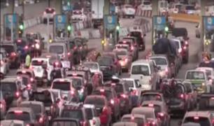 Caos y tráfico se generó en la Panamericana Sur por fin de semana largo