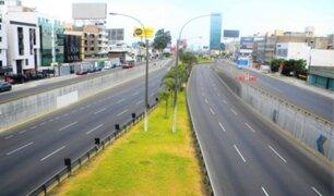 Semana Santa: principales vías de Lima lucieron vacías durante primer día de cuarentena