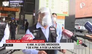 MTC supervisó el transporte público en Metro de Lima