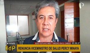 Percy Minaya renunció al cargo de Viceministro de Salud