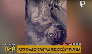 """Los Olivos: cae alias """"chaleco"""" en medio de intensa persecución y balacera"""