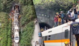 Accidente de tren en Taiwán deja al menos 48 muertos