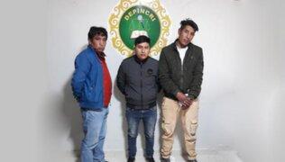 Puno: capturan a delincuentes acusados de robar celular a una niña