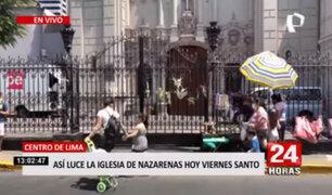 Semana Santa: iglesia las Nazarenas luce llena de ofrendas tras visita de feligreses