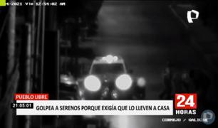 Pueblo Libre: sujeto golpea a serenos porque exigía que lo llevan a su casa