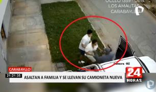 Carabayllo: asaltan a familia y se llevan su camioneta nueva