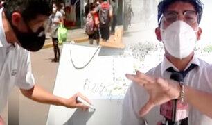 El reto matemático de ASD en las calles de Gamarra