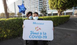 Hospital Rebagliati: Embarazada vence al COVID-19 y es dada de alta tras 20 días en UCI