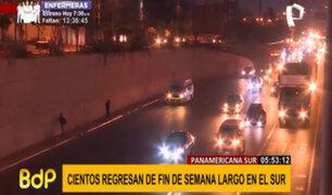 Panamericana Sur: Pico y Placa y uso de carril izquierdo para camiones se suspenden hoy