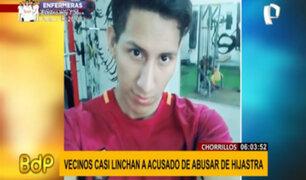 Chorrillos: vecinos casi linchan a sujeto acusado de abusar de su hijastra de 6 años