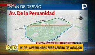 Av. De la Peruanidad: ¡ATENCIÓN! conozca los desvíos por instalación de centro de votación