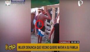 Chorrillos: sujeto amenaza con cuchillo en mano a familia por un conflicto de terrenos