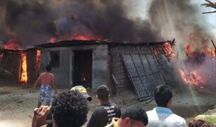 Varias familias damnificadas dejó gigantesco incendio en Sullana