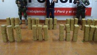 Incautan más de 829 kilos de droga durante un operativo en la región Tumbes