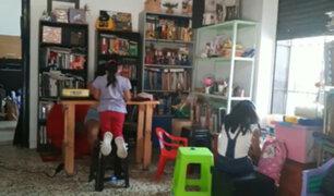 Cercado de Lima: jóvenes implementan biblioteca comunitaria para niños de escasos recursos