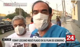 Elecciones 2021: Yonhy Lescano niega plagio en su plan de Gobierno