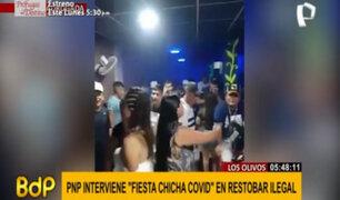 """Los Olivos: cerca de 30 personas fueron intervenidas en """"fiesta chicha covid"""""""