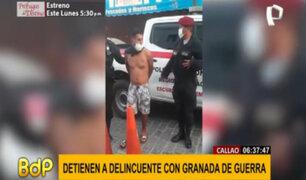 Callao: capturan a peligroso delincuente con una granada tipo piña