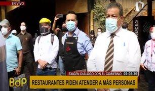 Gastronomía en crisis: empresarios piden al Gobierno flexibilizar medidas a restaurantes