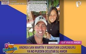 Picantitas del espectáculo: Andrea San Martín y Sebastián Lizarzaburu ya no ocultan su amor