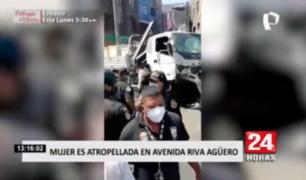 Mujer es atropellada en el distrito de El Agustino