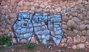 Alrededor de una semana demoraría la limpieza del muro inca dañado por grafiti