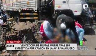 Vendedora de frutas falleció tras ser embestida por camión en El Agustino