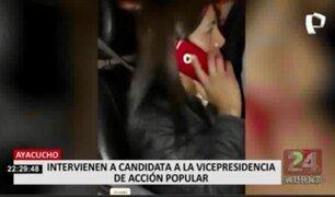 Candidata a la vicepresidencia por Acción Popular fue intervenida por violar el toque de queda