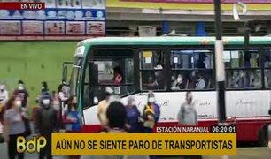 Paro de transporte público: Desorden se registra en los alrededores del Terminal Naranjal