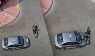 Tacna: cámara capta aparatoso choque entre auto y motocicleta
