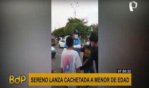 Carmen de la Legua: sereno lanza cachetada a un menor de edad