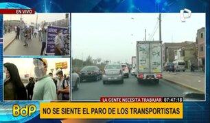 Paro de transportistas: así luce la avenida Túpac Amaru durante la paralización
