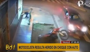 Trujillo: así quedó motociclista que no llevaba casco de seguridad tras choque