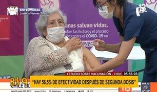 Chile: estudio asegura que hay un 56.5% de efectividad en la segunda dosis de las vacunas