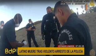 EEUU: violenta detención policial causa muerte de un latino