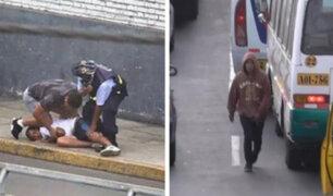 Caen delincuentes que arrebataban celulares en puentes Caquetá y Ricardo Palma