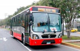 Paro de transporte: habilitan servicio temporal gratuito del Corredor Rojo