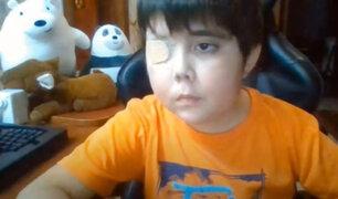 """Conoce la tierna historia de """"Tomiii 11"""", el niño con cáncer cerebral que quiere ser youtuber"""