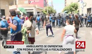 Mesa Redonda: persisten violentos enfrentamientos entre ambulantes y fiscalizadores